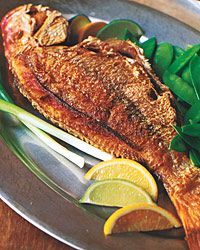 Whole Crispy Snapper w Asian Sauce... I think I am trying this tonight, wish me luck!