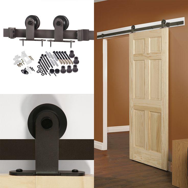 shop 7875in bronze steel interior barn door roller kit at lowescom