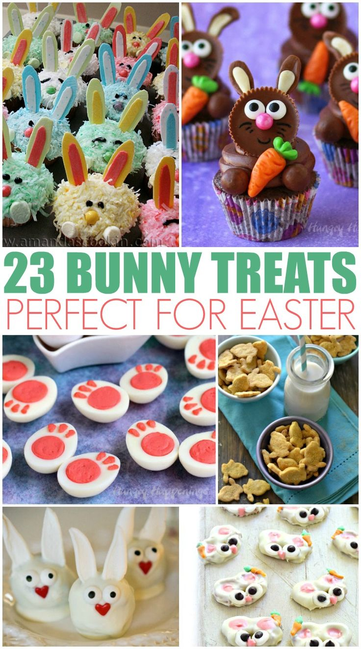 23 Bunny Treats Perfect for Easter - These Easter treats are adorable and delicious. Which Easter Treat will you try first?