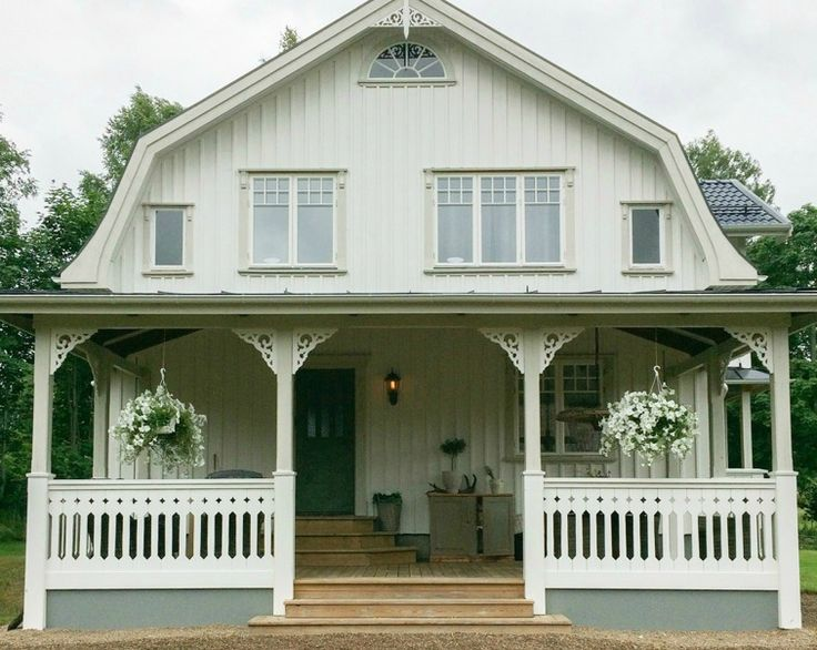 Mansardtak, veranda