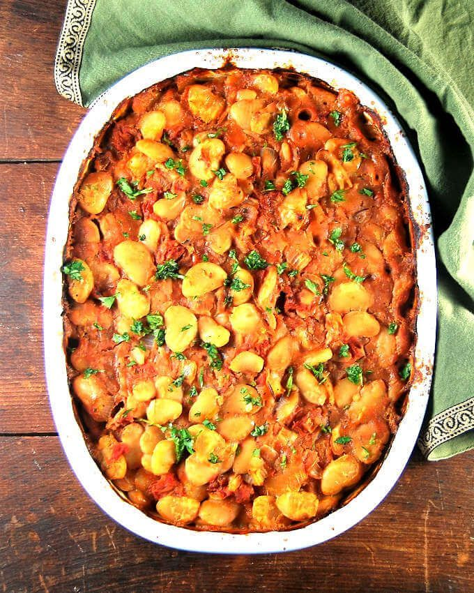 Greek style baked lima beans • Holy Cow! Vegan Recipes