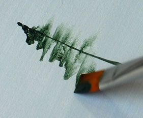 How To Paint Trees – Detailed Instructions GOOD START... THE FINI WAS LIKE A SLOPPY BOB ROSS