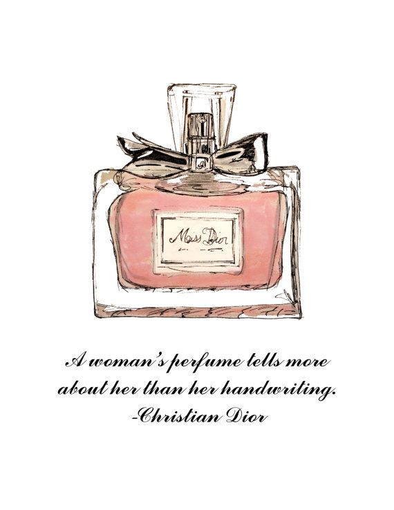 Dior Perfume bottle and quote Print available on Etsy, $15.00 by CityStrokes