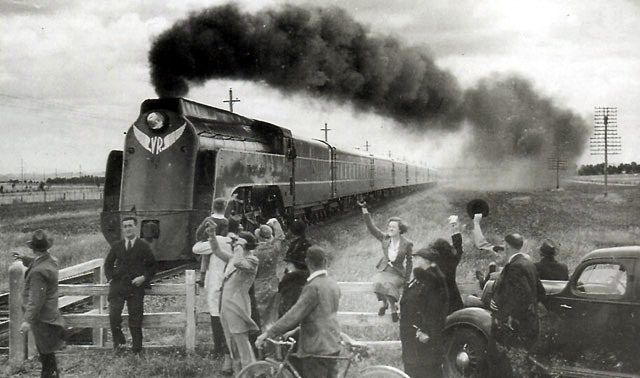 The Spirit of Progress reaches a new Australian rail speed record of 79.5 mph in 1937