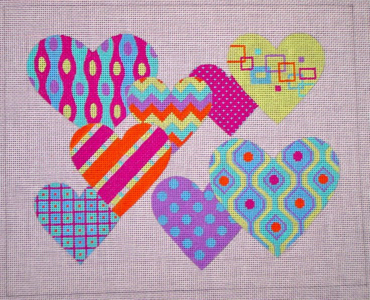 Pattern Party Hearts By EyeCandy Needleart EyeCandy