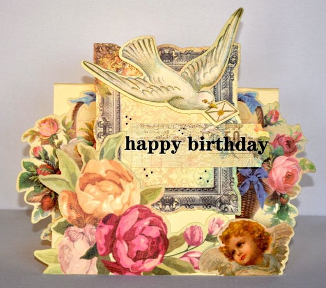 A Birthday Step Card made using the Sweet Nothings Collection from Kaisercraft. By Kelly-ann Oosterbeek.