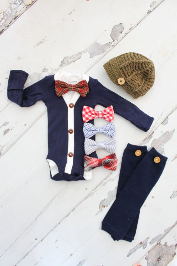 e13a139bb1608 Newborn Baby Boy Coming Home Outfit Set up to 4 Items. Cardigan ...