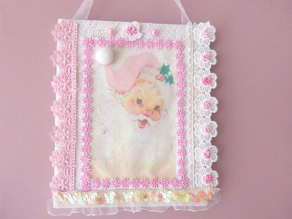 Pink Santa Claus Pink Santa Claus Ornament by CrossStitchElizabeth