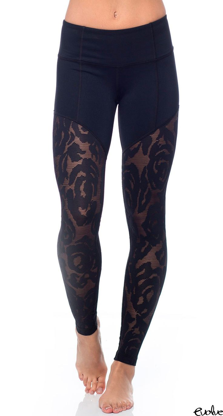 Step up your legging game in these black rose lace leggings from Vimmia and you'll be turning heads wherever you go. Shop now at www.evolvefitwear.com.