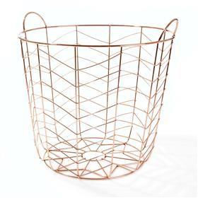 Copper Coloured Basket | Kmart