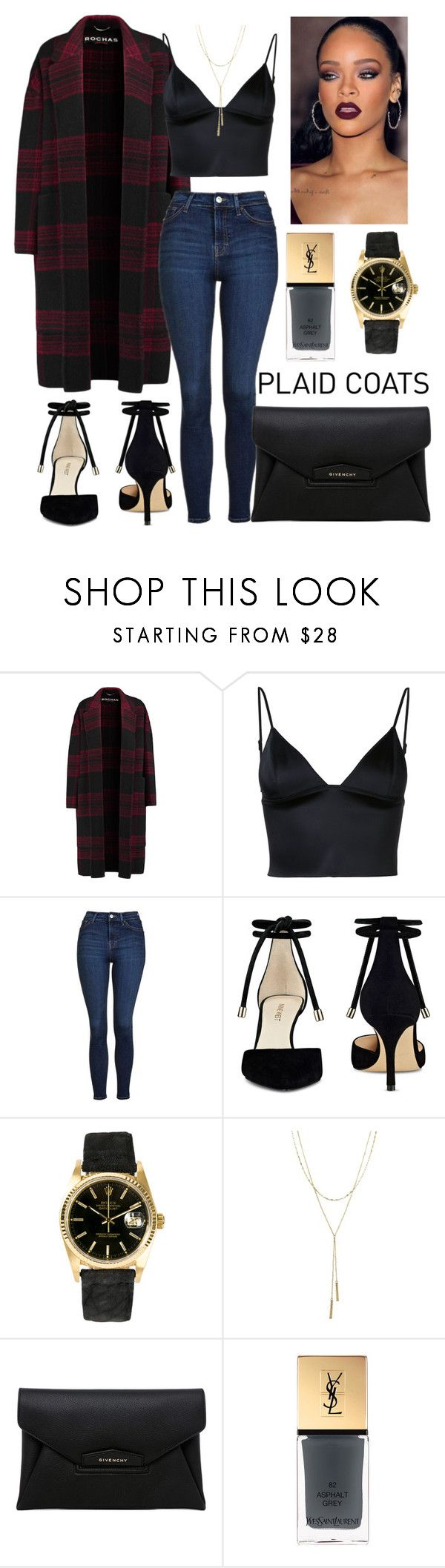 """Untitled #216"" by c-ayannah ❤ liked on Polyvore featuring Rochas, T By Alexander Wang, Topshop, Nine West, Rolex, Bloomingdale's, Givenchy and Yves Saint Laurent"