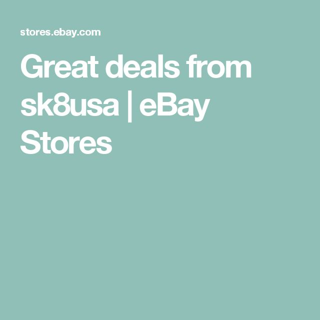 Great deals from sk8usa | eBay Stores