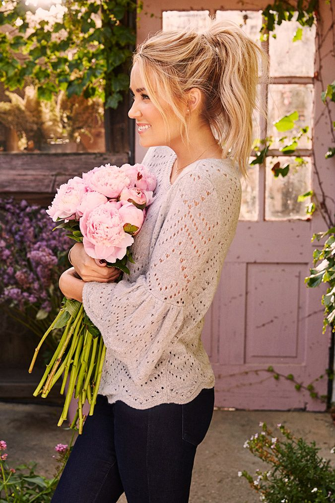 Lauren Conrad in an LC Lauren Conrad for Kohl's Bell Sleeve Sweater