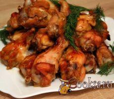 Запеченные остро-сладкие куриные крылышки фото рецепт приготовления