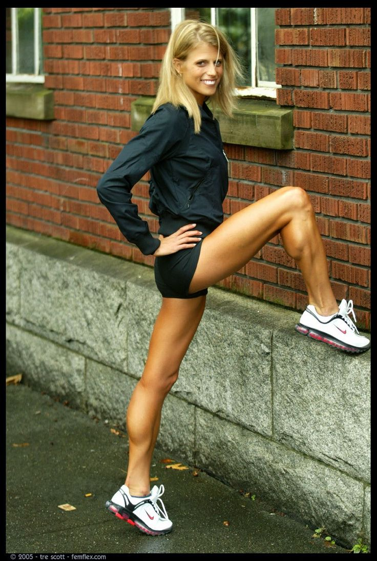with athletic legs muscular Girls