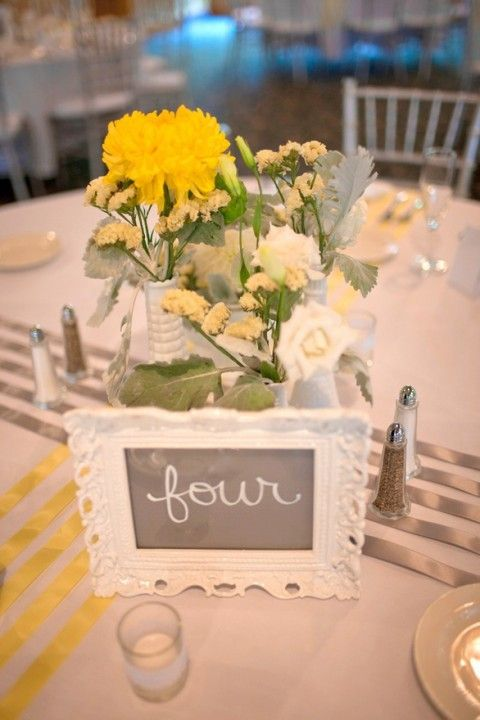 Grey and yellow wedding ideas for spring summer
