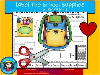 $ Back To School Labels...Getting Ready For School Labeling Activity.  Enjoy! Regina Davis aka Queen Chaos at Fairy Tales And Fiction By 2.