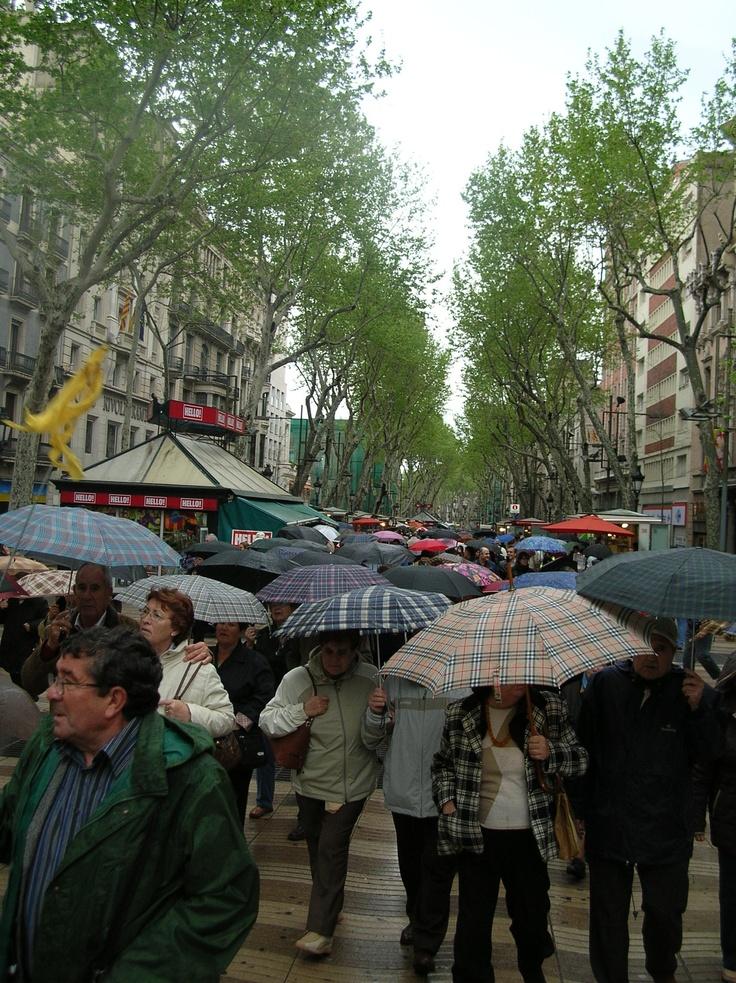 Las Ramblas Rain