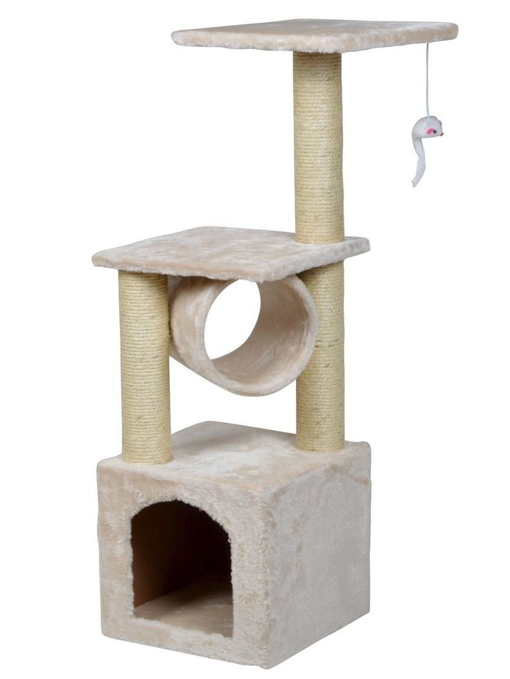 36' Deluxe Cat Tree Level Condo Furniture Scratching Post Kittens Pet Play House > See this great image  : Cat tower
