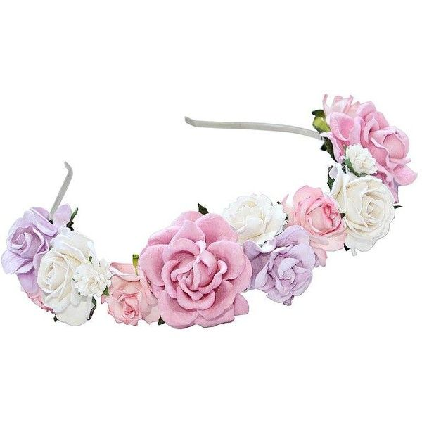 Dolly Bow Bow | Jewellery, Floral Crowns and Hair Accessories ($24) ❤ liked on Polyvore featuring accessories, hair accessories, flower crowns, hats, headbands, flower crown, floral garland, jewel headband, floral crown and hair bands accessories
