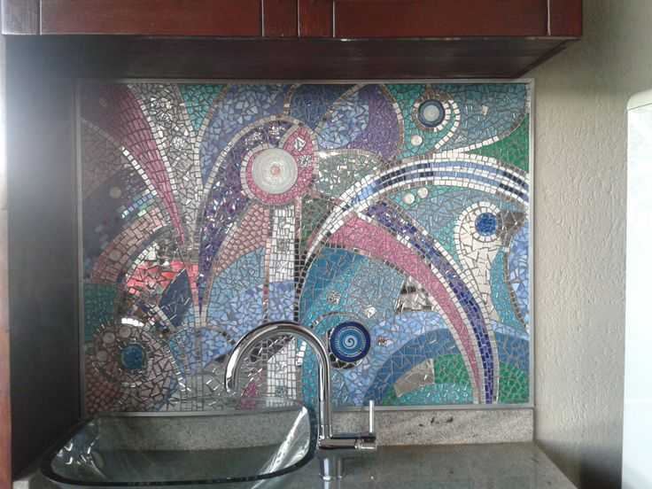 Mosaic for bar area by Annabelle South African Artist