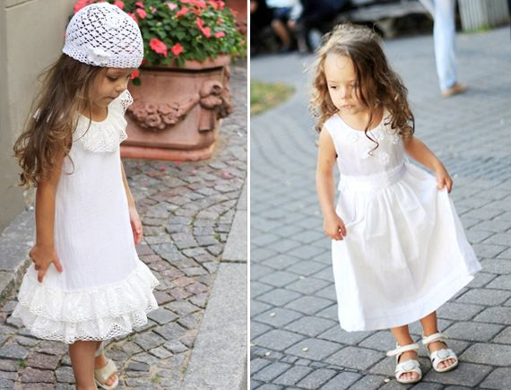 Maliposhaclothes flower girl and page boy wedding clothing   the white notebook