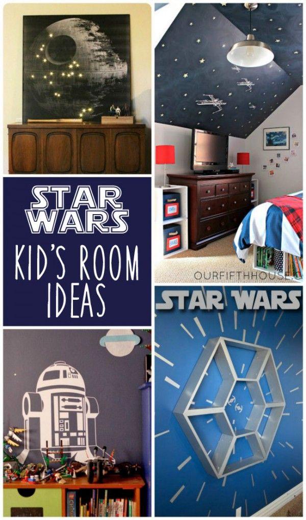 1011 best images about kid bedrooms on pinterest diy bed for Boys star wars bedroom ideas