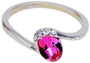 Silver Big Rhinestone Ring