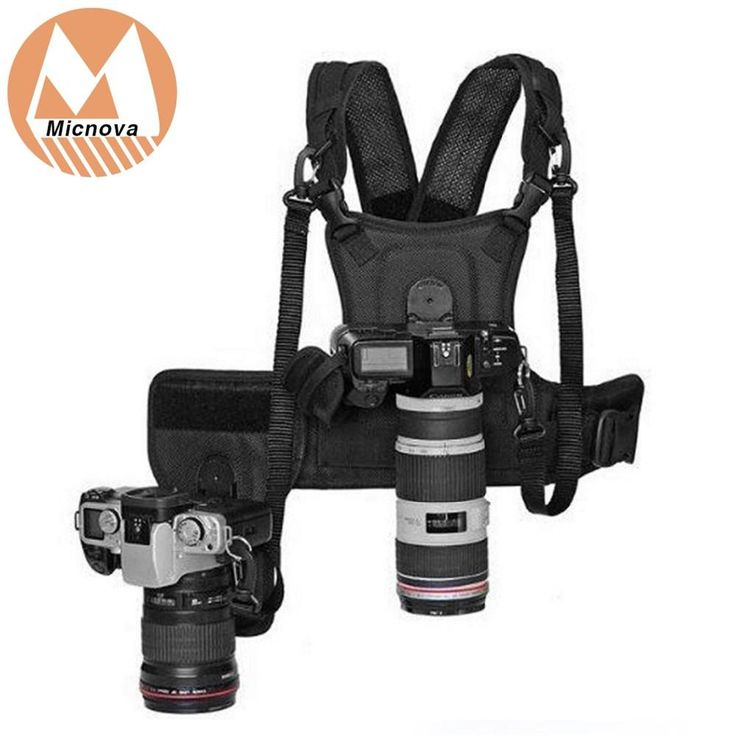 Micnova MQ-MSP01 Carrier II Multi Camera Photographer Vest with Dual Side Holster Strap