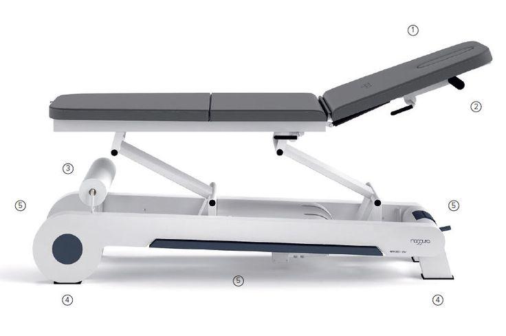 Lettino fisioterapia osteopata elettrico 3 segmenti 1 motore massaggi medico