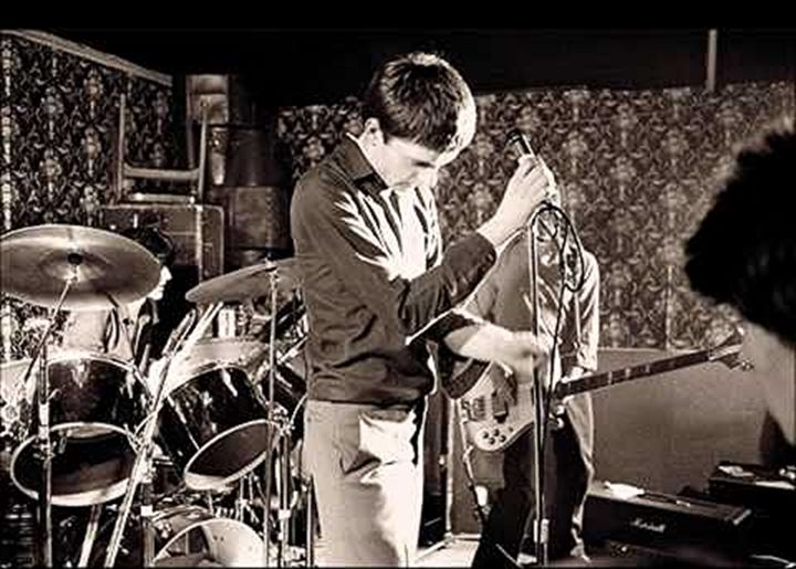 Joy Division at Bowdon Vale Youth Club, March 14, 1979. Photo by Martin O'Neill at Studio Five Four.