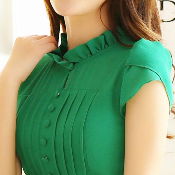 2015 Новая модель Корейский стиль Для полных Женская одежда Короткие рукава Шифон Платье