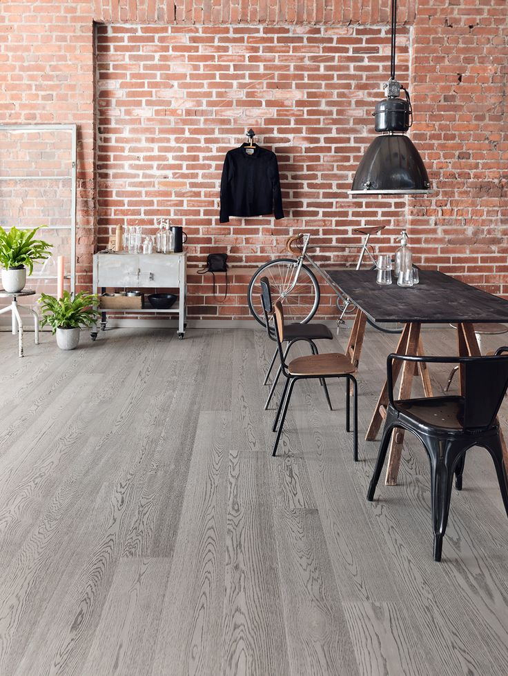 Oak Industrial FERRO, brushed matt lacquered is rough, edgy and masculine, perfect with raw tile surfaces and loft apartments.