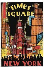 Times Square New York City Vintage Looking Travel Decal Luggage Label Sticker
