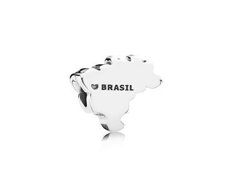 Charm de Prata Brasil - Bem-vindo - Pandora Joias