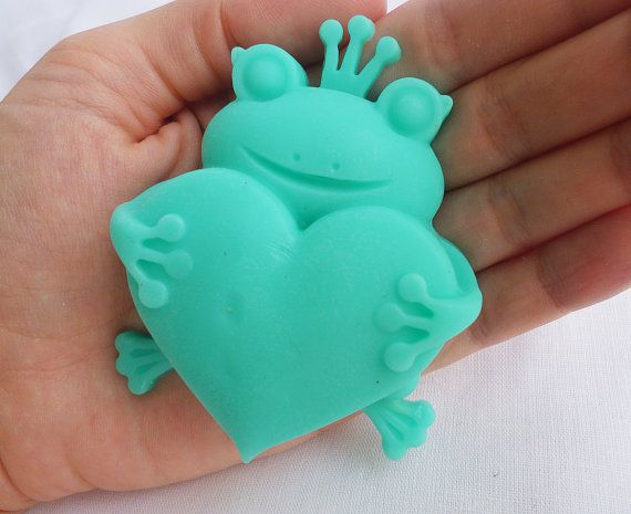 Baby Shower Soaps  Frog soap Bear soap by StarSoapsbyIvana on Etsy