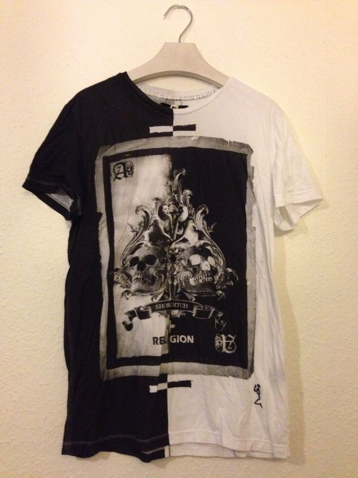 BNWTS Religion T Shirt With ACE OF Spades Skull Print Size M | eBay