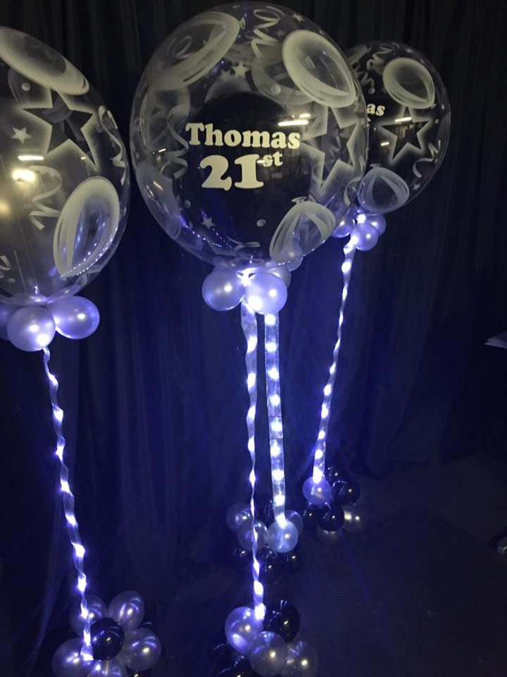 Super Sparkly Balloons for Thomas 21st Birthday.