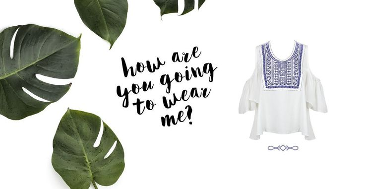 How to wear the off the shoulder top | Off the shoulder tops are the hottest SS16 trend and we are styling ours in two different ways. How would you wear it?
