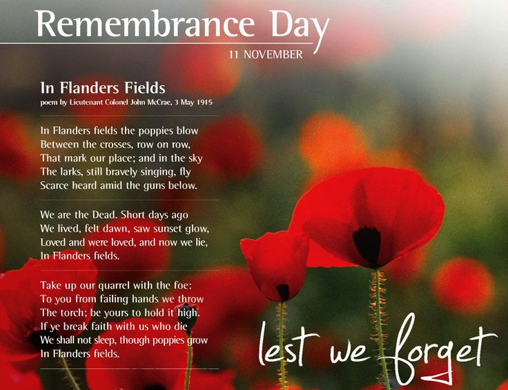 remembrance day messages canada
