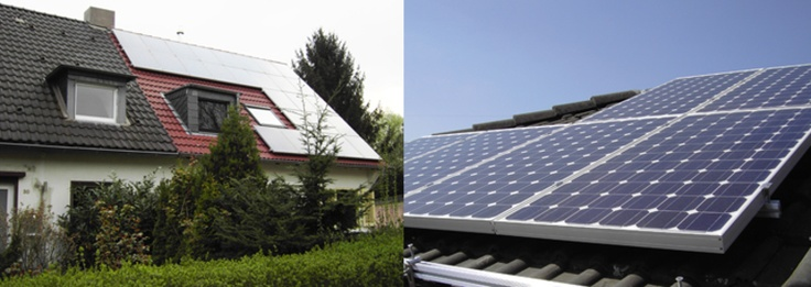 Solar-Wohnhaus und Detail Solarkollektor. Montage durch Dirk Walter Bongartz Dachdeckermeister in Düsseldorf (40595)   Dachdecker.com