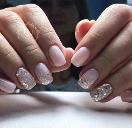 41 ideas nails design white sparkle for 2019  pale pink