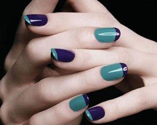 Nail art gel estate 2012: ecco alcune idee trendy - Nail art gel - unghie bicolor viola