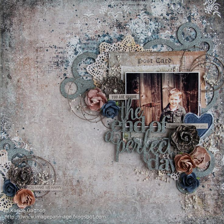 Hi, I'm sharing today my first layout created with the brand new Mémoires collection from Blue Fern Studios. The papers are just gorgeo...
