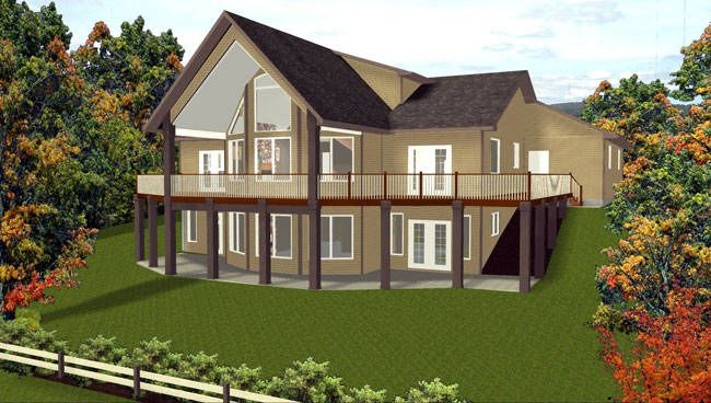 2-Storey House Plan with Walkout 2009473 by Edesignsplans.ca