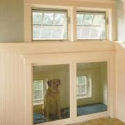 Inside Dog House for attic crawl space