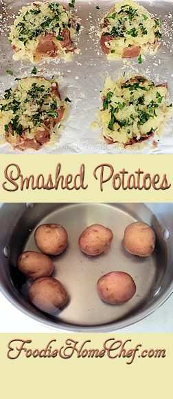 Smashed Potatoes - So easy, so tasty & goes with any meal... breakfast, lunch or dinner! The best part about these #potatoes is that you can customize them in so many ways to compliment whatever dish you're serving them with. Just alter the herbs/spices to match your dish. --------- #Food #Cooking #Recipes #Recipe #Cuisine #GreatFood #HomeCooking #ComfortFood #PotatoRecipes #SideDish #SideDishRecipes #SmashedPotatoes #Vegetarian #VegetarianRecipes #Vegetables #HealthyRecipes
