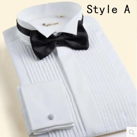 Wholesale-Wholesale Tuxedo Shirts Men's Wedding Apparel Groom Wear Shirts For…