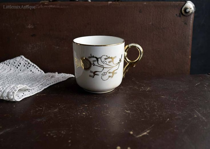 Antique Victorian Era White Porcelain and Gold Decor Small Coffee Cup/Petite Cup Retro English Porcelain Drinkware Retro Cottage Chic Cup by LittlemixAntique on Etsy