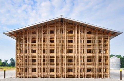 Building Architecture Design With Bamboo Construction